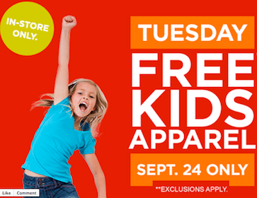 Piece of Kids Apparel at Sears Outlet on Tuesday