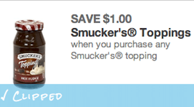 Smucker's Ice Cream Toppings at Target