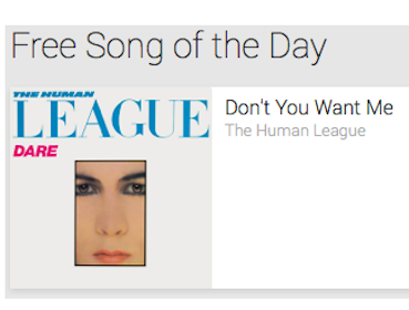 """MP3 Download: """"Don't You Want Me"""" by The Human League"""