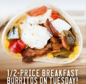 Sonic Drive-In: 1/2 Price Breakfast Burritos (9/3 Only)