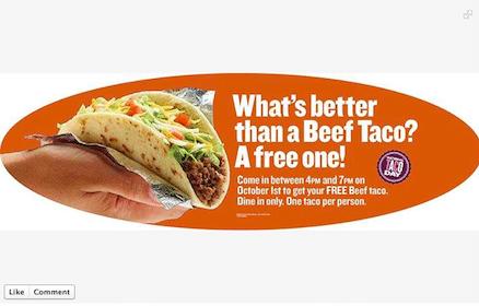 Beef Taco at Taco Cabana on Tuesday