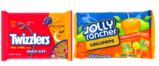 Save $1.50/2 Jolly Rancher or Twizzlers Snack Size Bags Coupon