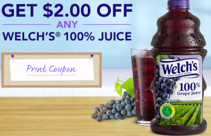 *HOT* $2/1 ANY Welch's 100% Juice Coupon (Share with Friends) = FREE Juice