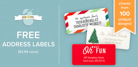 Pear Tree Greetings: FREE Address Labels (First 5,000!)