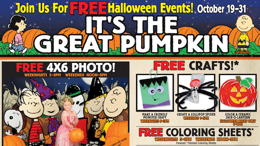 Halloween Events for Kids at Bass Pro Shop Oct. 19-31