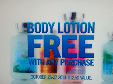 Full Size Bath & Body Works Lotion ($12.50 Value!) with ANY Purchase