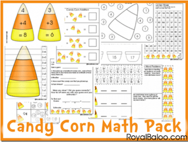 Candy Corn Math Pack Printables