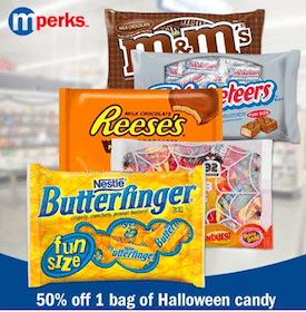 Meijer mPerks Coupon: 50% Off One Bag of Halloween Candy