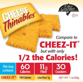 Sample of Fiber Gourmet Cheese Thinables Crackers