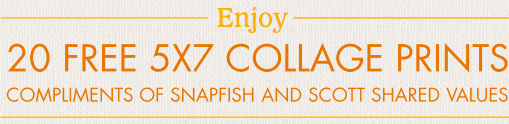 20 FREE 5×7 Collage Prints from Snapfish – $17.80 Value (Just Pay Shipping)