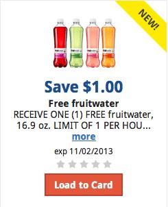 Kroger eCoupon: FREE Fruitwater