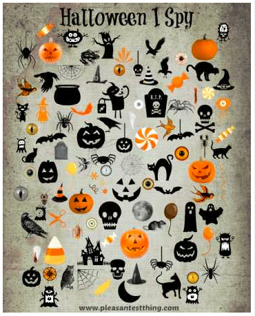 Halloween I Spy Game {printable}