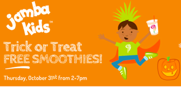 Kids Smoothies at Jamba Juice on Halloween