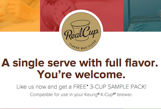 RealCup K-Cup Coffee Samples