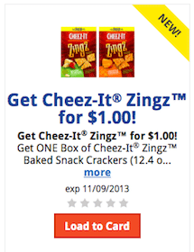 Kroger Friday eCoupon: Get Cheese-It Zingz for $1
