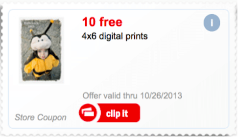 Meijer mPerks Coupon: 10 FREE 4×6 Digital Prints