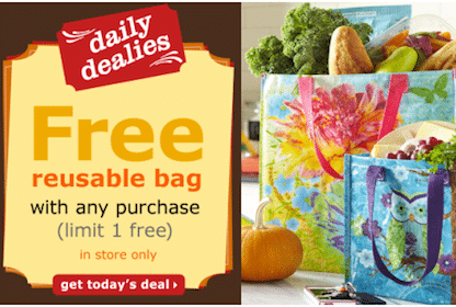 Pier 1 Imports Coupon: FREE Reusable Bag with ANY Purchase