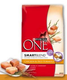 4lb Bag of Purina ONE Brand Dog Food