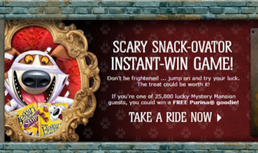 Purina Instant Win Game: 25,000 Win Coupon for FREE Dog Snacks or Cat Treats