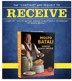 "Copy Of ""Molto Batali: Simple Family Meals Cookbook"" (Supplies Are Limited!)"