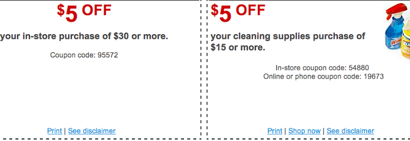 Staples Coupons: $5 off $30 Purchase & $5 off $15 Cleaning Supplies
