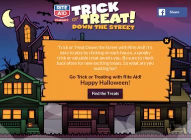 "Rite Aid: Play ""Trick or Treat Down the Street"" to Snag Rite Aid Store Coupons (1st 10,000!)"