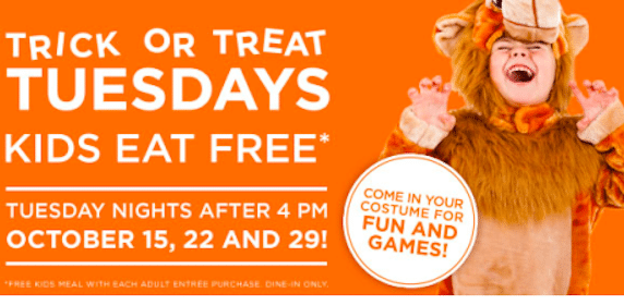 Bob Evans: Kids Eat FREE on Tuesday Nights (+ Come Dressed in Your Halloween Costume for Fun & Games!)