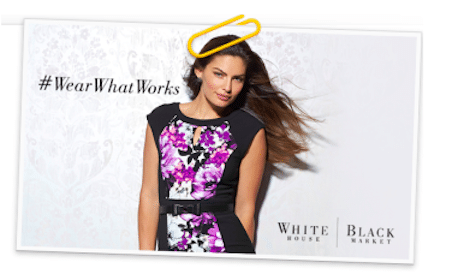 $10 White House Black Market Gift Card from the Wrapp App