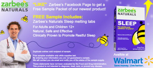 Sample of Zarbee's Naturals Sleep Melting Tabs
