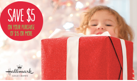 Hallmark Gold Crown: New $5 Off $15 Coupon