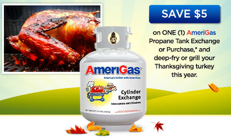Save $5 off AmeriGas Cylinder Exchange or Purchase Coupon