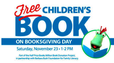 Children's Book at Half Price Books on 11/23 From 1-2 PM