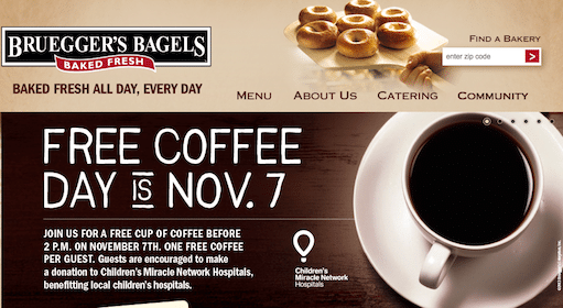 Cup of Coffee at Brueggers on 11/7