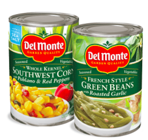 $0.50/4 Del Monte Canned Vegetables Coupon