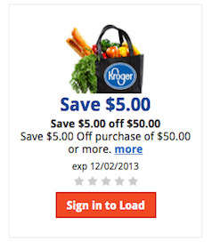 Kroger eCoupon: Save $5 off a $50 Purchase