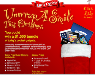 Little Debbie Unwrap A Smile Christmas Giveaway: WIN a Kindle, iPad, Samsung HDTV + MORE!