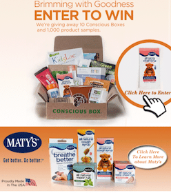 Maty's Health Products Giveaway: 10 Win Conscious Box (+ 1,000 Win Maty's Kids Cough Syrup Sample)