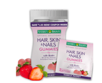 Sample of Nature's Bounty Hair, Skin, and Nails Gummies