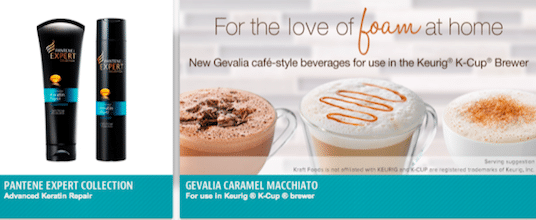 Samples of Pantene Expert Collection & Gevalia Caramel Macchiato K-cup from PINCHme