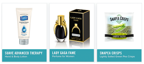 PINCHme: FREE Samples of Suave Lotion, Lady Gaga Perfume, Snapea Crisps + More