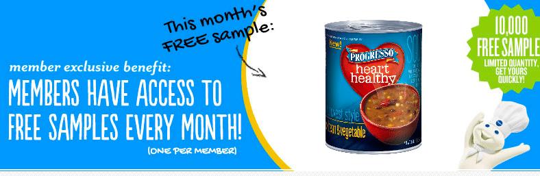 Progresso Heart Healthy Soup Sample (1st 10,000 Pillsbury Members!)