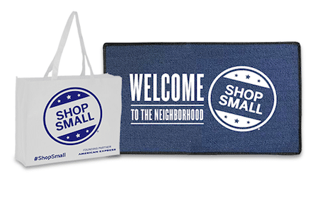 Shop Small Welcome Mat and Shopping Bags for Small Businesses