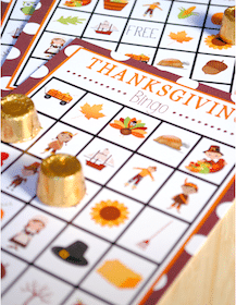 Printable Thanksgiving Bingo for Kids