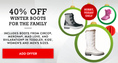 Target Cartwheel Coupon: 40% Off Winter Boots for the Family