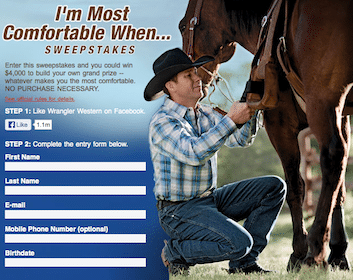 Wrangler Sweeps: WIN $4,000 in Gift Cards, Advanced Comfort Jeans & Wrangler Shirt