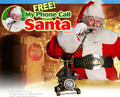 Free Personalized Phone Call and Video Messages From Santa