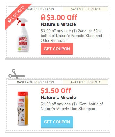 Printable Nature's Miracle Coupons