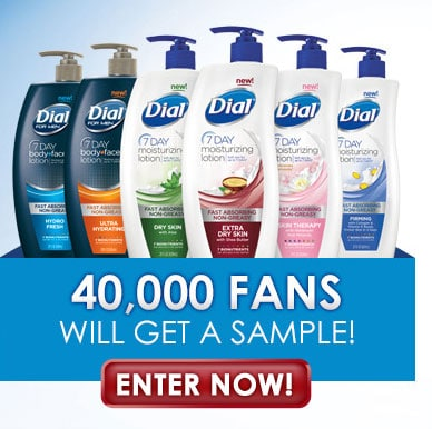 FREE Dial Lotion Samples (Facebook)