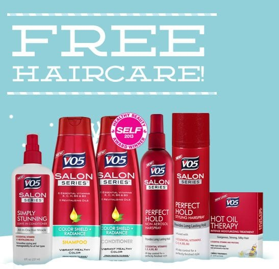 FREE VO5 Salon Series Bottle Sample
