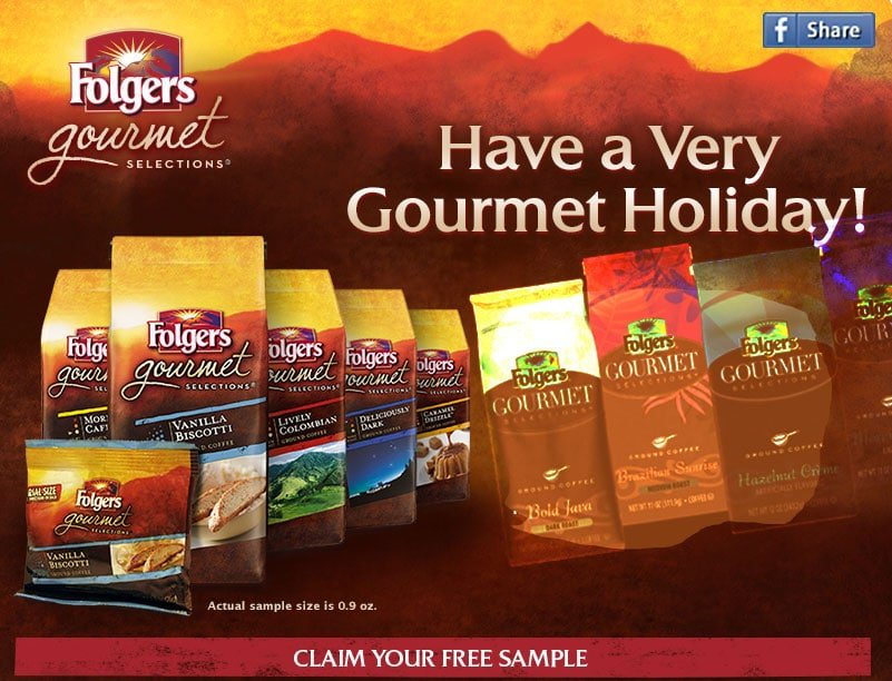 FREE SAMPLE of Folgers Gourmet Selections Vanilla Biscotti-flavored Coffee